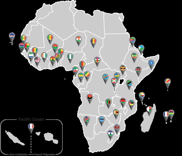 international footprint map